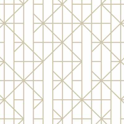 Gold Linear Removable Wallpaper Sample, White - Home Depot