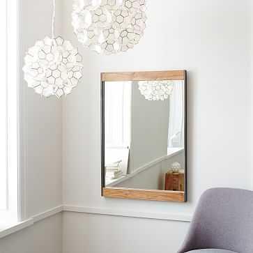 Industrial Wall Mirror, Mango Wood, UPS - West Elm