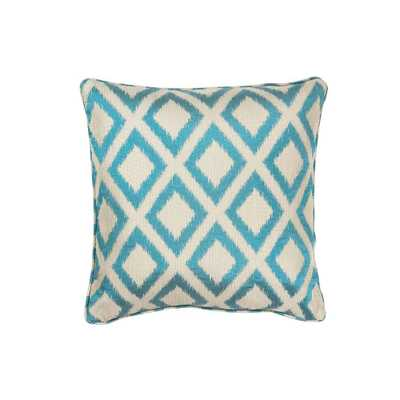 Royden Frame Turquoise Decorative Pillow - Home Depot