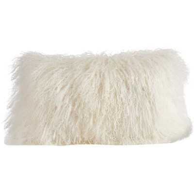 Becky Fur Lumbar Pillow - Wayfair