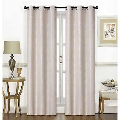 "Chandler 74"" X 84"" (2@37"" X 84"") Curtain Panel Pair Sand - eBay"