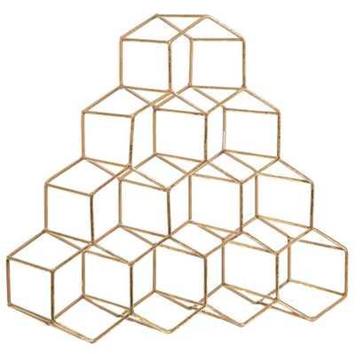 Geometric 10-Bottle Wine Rack - Home Depot
