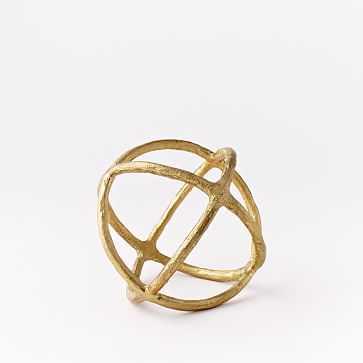 Sculpture Sphere, Gold, Small - West Elm