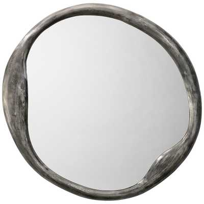 """Jamie Young Organic Antique Iron 36"""" Round Wall Mirror - Style # 39X99 - Lamps Plus"""