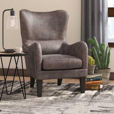 Rockport Hi-Back Studded Wingback Chair - Wayfair