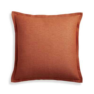 """Linden Copper 18"""" Pillow Cover - Crate and Barrel"""