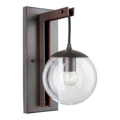 "Forte Lighting 5116-01 Single Light 13"" Tall Wall Sconce with Clear Globe Glass - eBay"