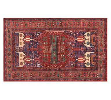 Nicolette Hand-Knotted Rug, 8 x 10', Warm Multi - Pottery Barn