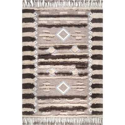 Heller Shaggy Brown 7 ft. 6 in. x 9 ft. 6 in. Area Rug - Home Depot