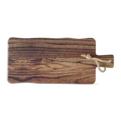 Barnwood 1-Piece Brown Melamine Cheese Serving Board - Home Depot