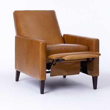 Sedgwick Recliner, Stetson Leather, Cognac - West Elm