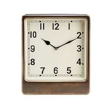 Anton Desktop Clock, Large - Pottery Barn