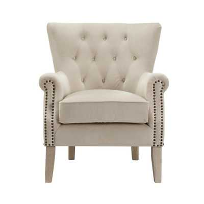 Tilda Beige Accent Chair - Home Depot