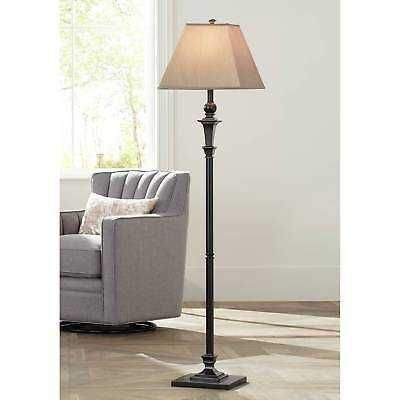 Traditional Floor Lamp Italian Bronze Square Shade For Living Room Reading - eBay
