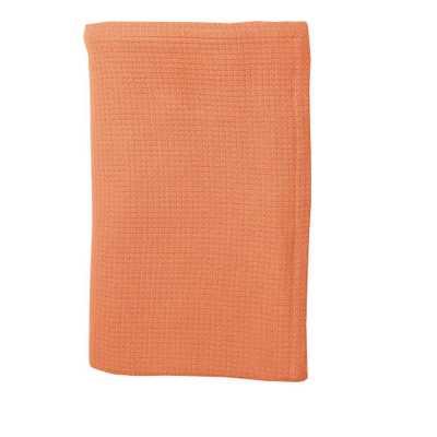 Tangerine (Orange) Cotton Weave Blanket and Throw - Home Depot