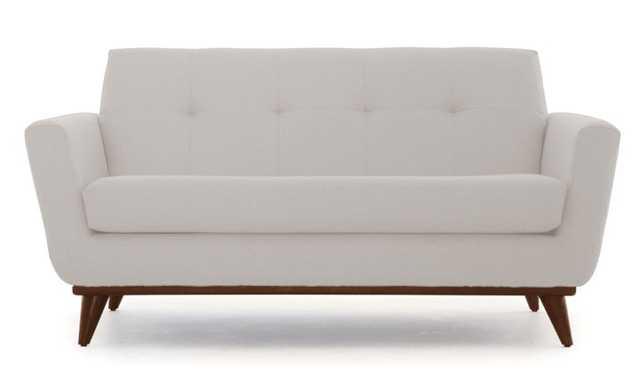 Beige Hughes Mid Century Modern Apartment Sofa - Prime Dove - Mocha - Joybird