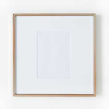 """Gallery Frame, Rose Gold, 5"""" x 7"""" (12"""" x 12"""" without mat) - West Elm"""