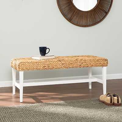Harper Blvd White Woven Coffee Table Bench - eBay