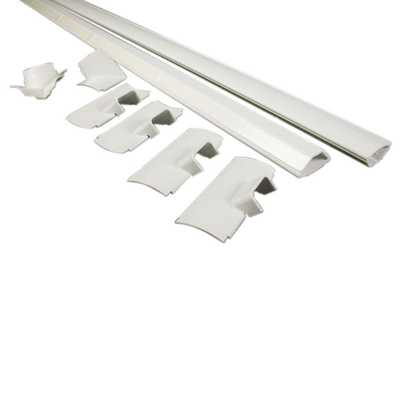 5 ft. Corner Mate/Cord Mate II Kit, White - Home Depot