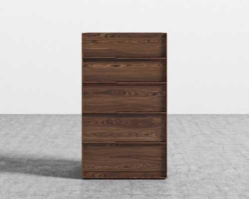 Hunter Tall Dresser - Walnut Veneer - Rove Concepts