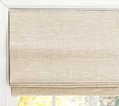 "Custom Emery Cordless Roman Shade, 20 x 66"", Oatmeal - Pottery Barn"