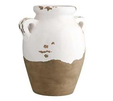 Tuscan Terra Cotta Vase, Large Double-Handled Urn - Pottery Barn