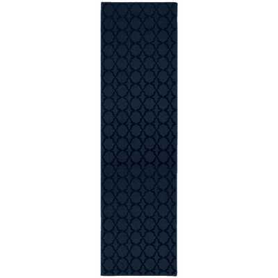 Garland Rug Sparta 3 ft. x 12 ft. Area Rug Runner Navy (Blue) - Home Depot