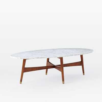 Reeve Mid-Century Oval Coffee Table - West Elm