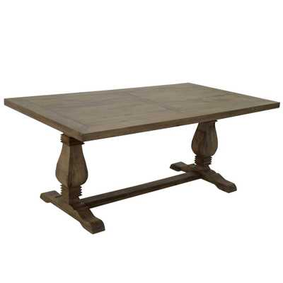 72 in. Wide Natural Wood Rectangular Dining Table - Home Depot