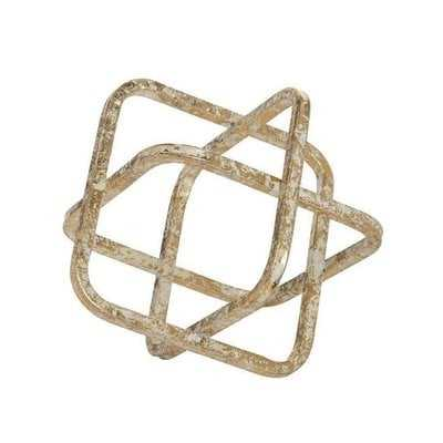 Rivale Metal Cube Sculpture - Wayfair