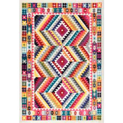 Abbie Multi 8 ft. x 10 ft. Area Rug - Home Depot