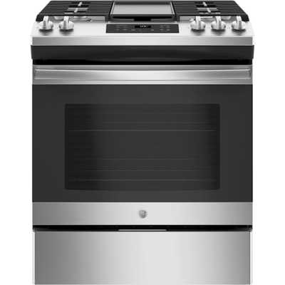 5.3 cu. ft. Slide-In Gas Range with Steam Clean Oven in Stainless Steel (Silver) - Home Depot
