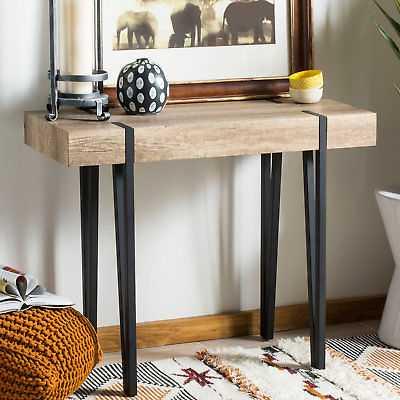 Ivy Bronx Ricarda Rectangular Wood Top Console Table IVBX8028 - eBay