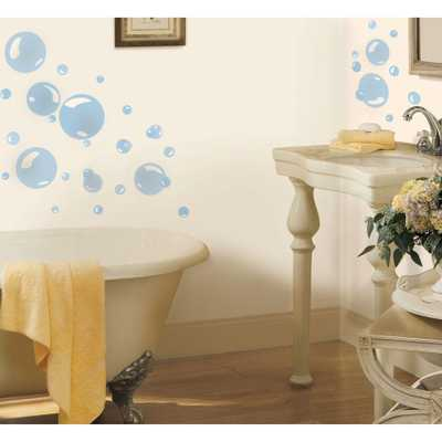 Bubbles Peel and Stick Wall Decal, Blue - Home Depot