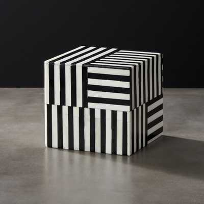 Taylor Square Bone Box - CB2