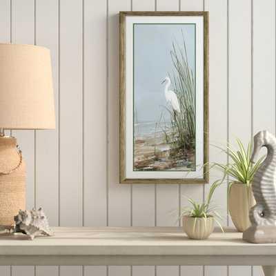 'Island Egret II' Framed Acrylic Painting Print - Birch Lane