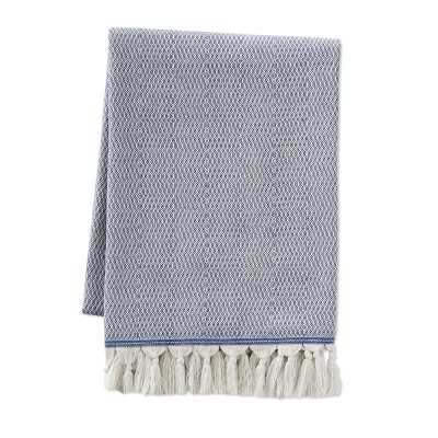 "Stream Cotton Throw, 50"" X 70"", Blue - Williams Sonoma"