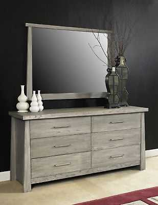 Home Image Fusion 6 Drawer Double Dresser: Driftwood Gray - eBay
