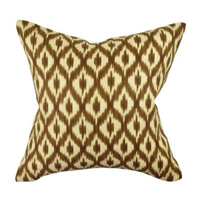 Brown Grid and Dot Jacquard Throw Pillow, Browns/Tans - Home Depot