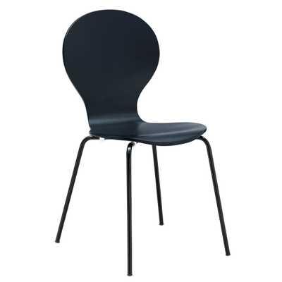 Black Petal Dining Chair - Home Depot