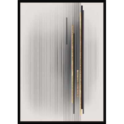 'Contemporary Gold Story' Framed Graphic Art Print on Canvas - Wayfair