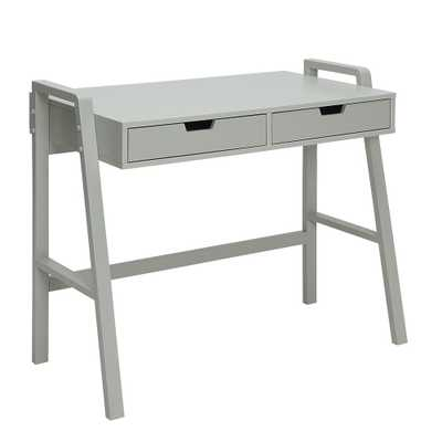 Charles London Grey Small Office Desk - Home Depot