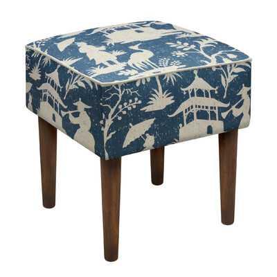 Chinoiserie Upholstered Vanity Stool - Wayfair