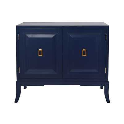 Modern Contemporary Right2Home Glam Collection Navy Blue Two Door Accent Chest - eBay