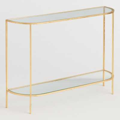 Glass and Gold Leaf Rosalyn Console Table by World Market - World Market/Cost Plus