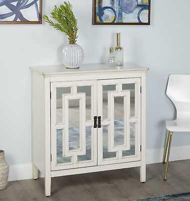 Ophelia & Co. Brigham 2 Door Accent Cabinet: Antique White - eBay