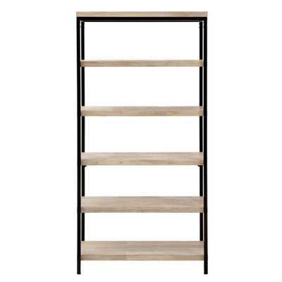Anjou White Wash Open Bookcase - Home Depot