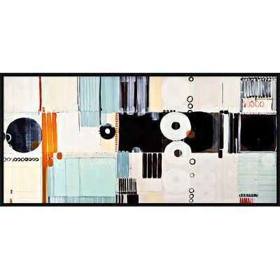 'Geometric Abstract' Framed Painting Print - Wayfair