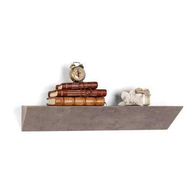Contempo Gray Faux Stone MDF Triangular Ledge Floating Wall Shelf, Grey - Home Depot