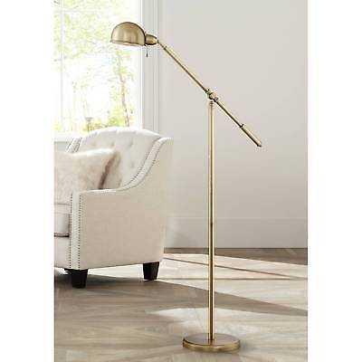 Antique Brass Pharmacy Floor Lamp Boom Style Swing Arm For Living Room Reading - eBay